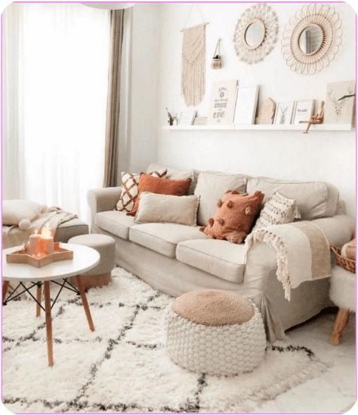 sofá pared